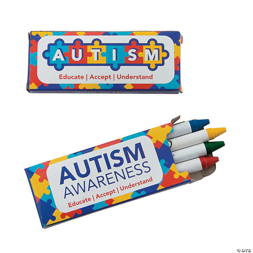 Autism Awareness Crayons
