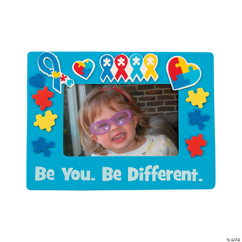 Autism Awareness Picture Frame Magnet Craft KIt