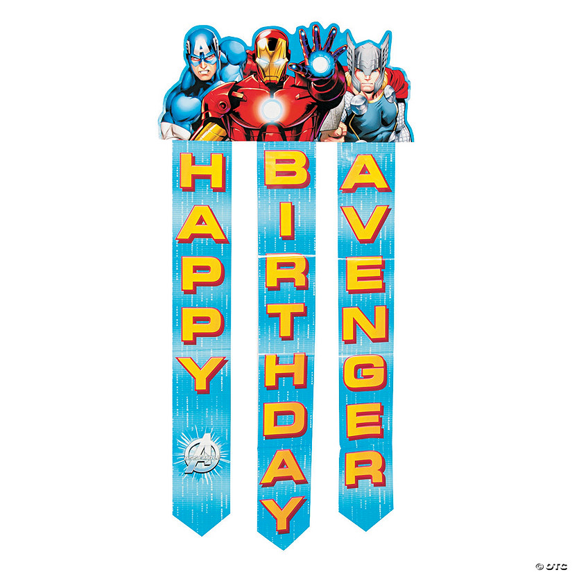 Free Comic Book Day Banner: Avengers Assemble™ Birthday Paper Banner