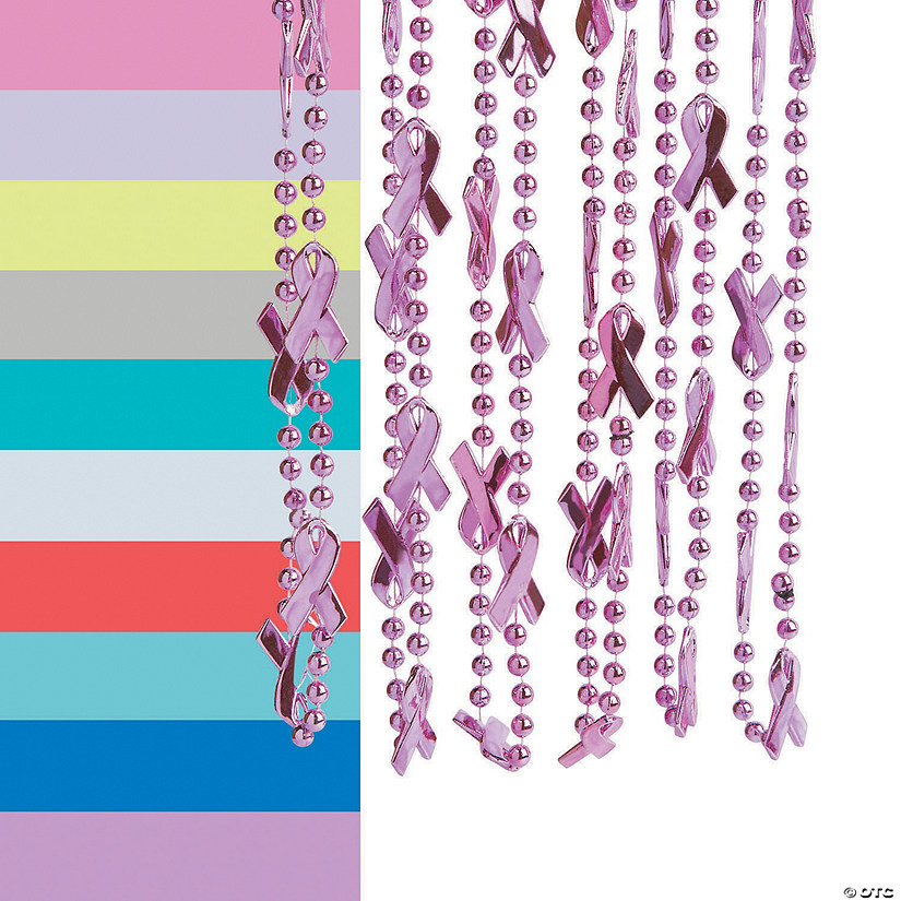 Awareness Ribbon Bead Necklaces