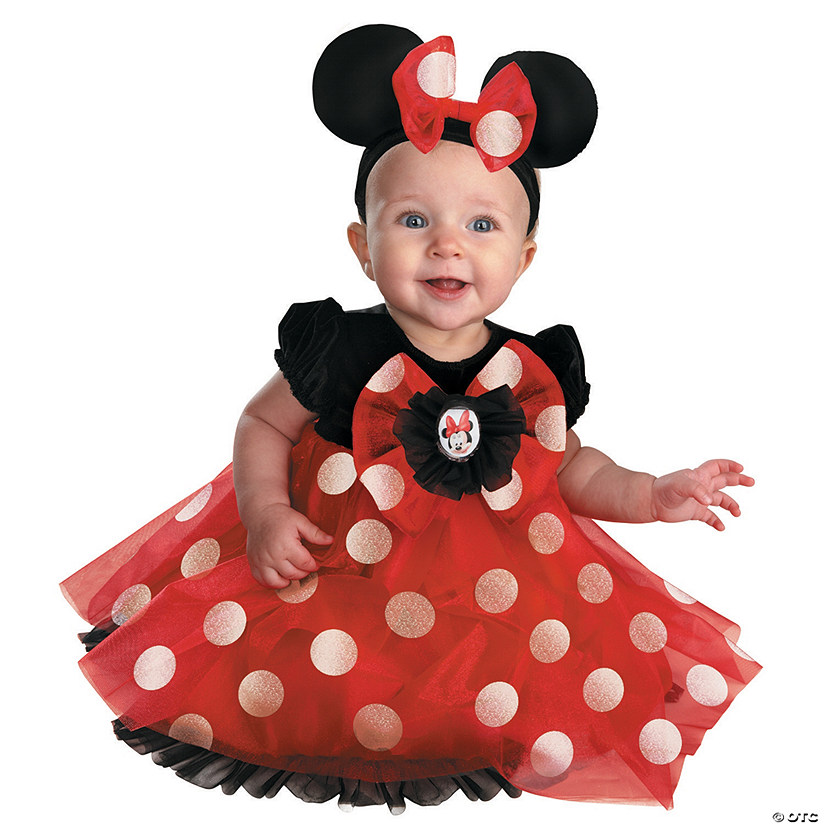 Baby Girl's Red Minnie Mouse™ Costume