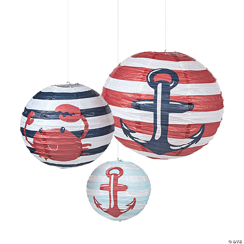 Baby Shower Nautical Hanging Paper Lanterns