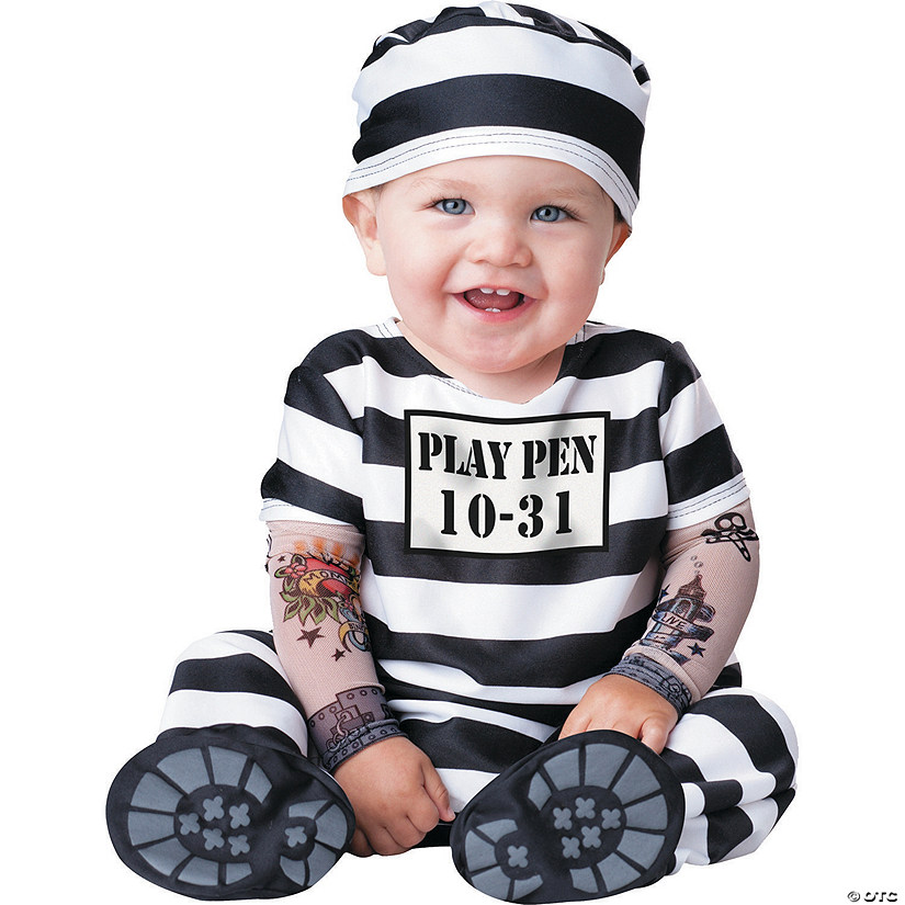 Baby Time Out Prison Stripes Costume