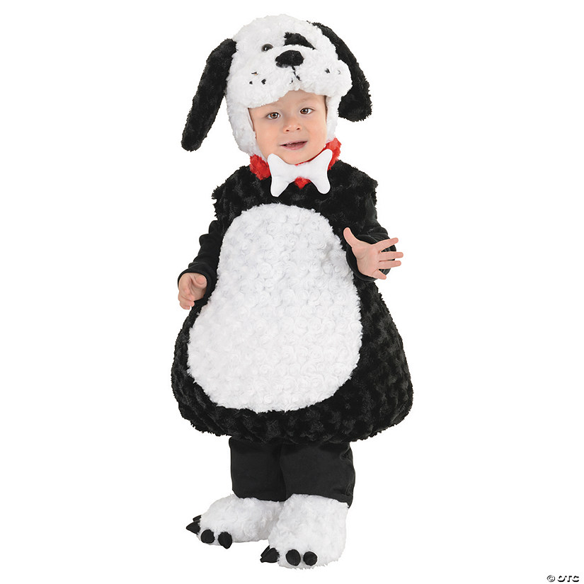 Baby/Toddler Black & White Puppy Costume