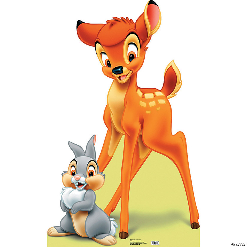 Bambi And Thumper Cardboard Stand-Up