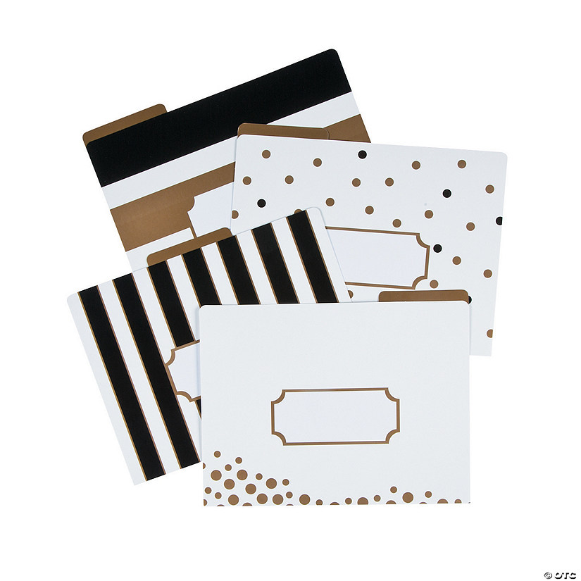 Barker Creek Gold Letter Size File Folders