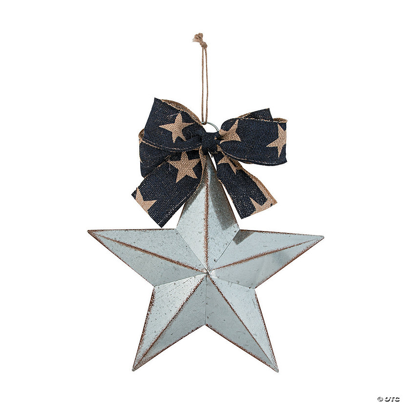 Barn Star with Patriotic Bow