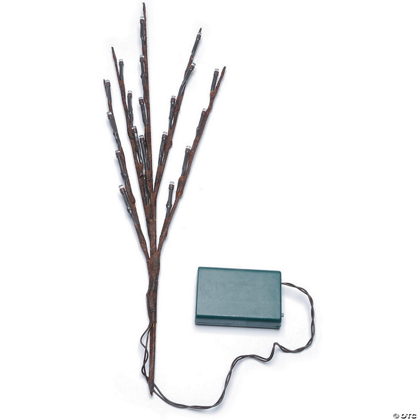 "Battery Operated LED Lighted Branch 17""-Brown Branches/Warm White Lights"