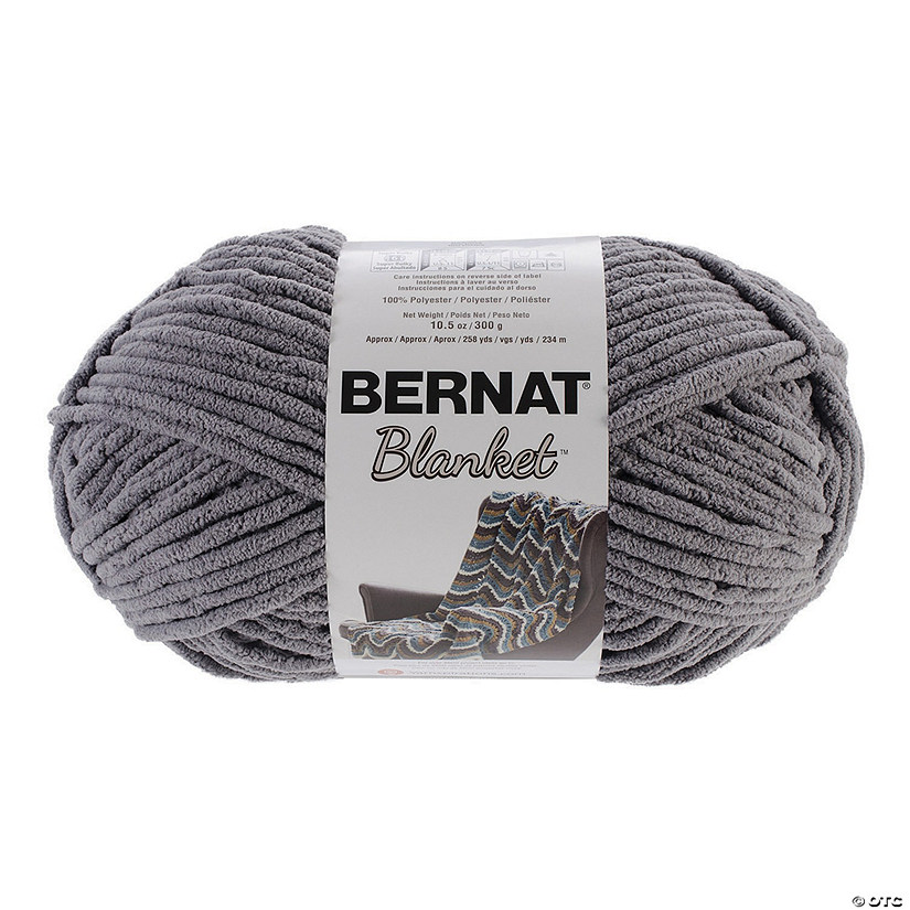 Bernat Blanket Big Ball Yarn-Dark Grey 10.5oz