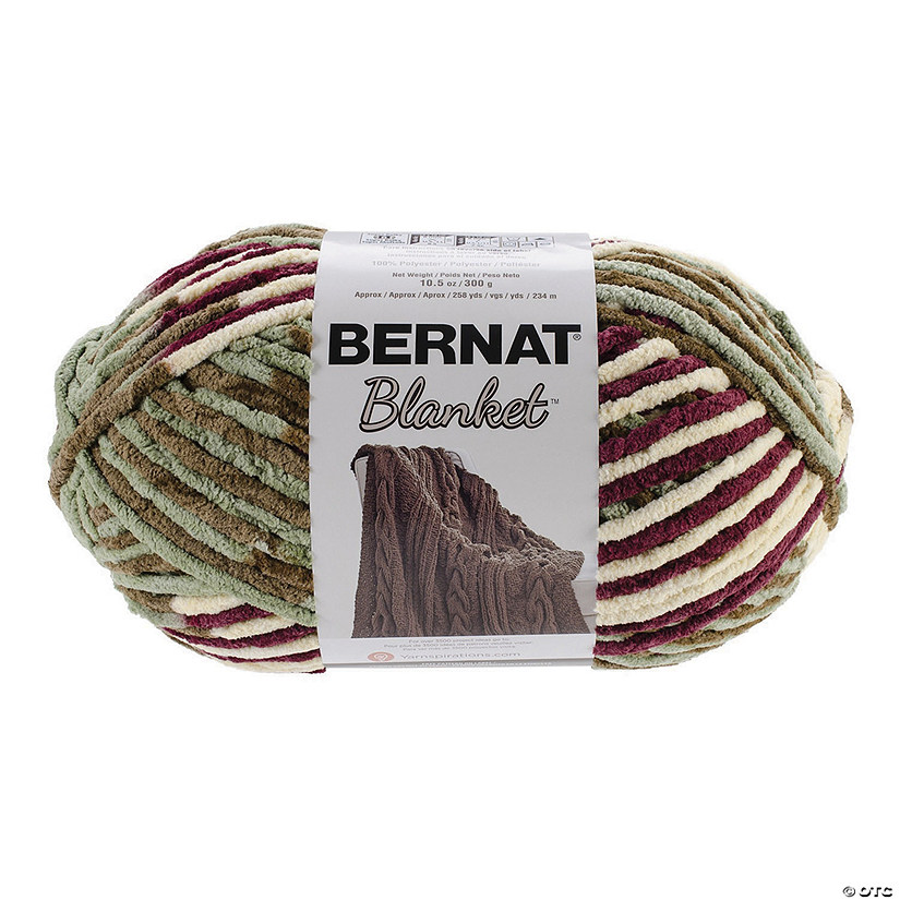 Bernat Blanket Big Ball Yarn-Plum Fields