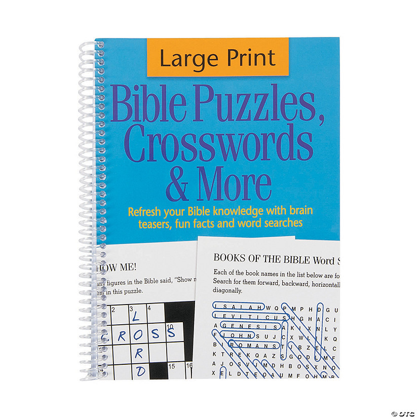 Bible Puzzle & Crosswords Activity Spiral Book