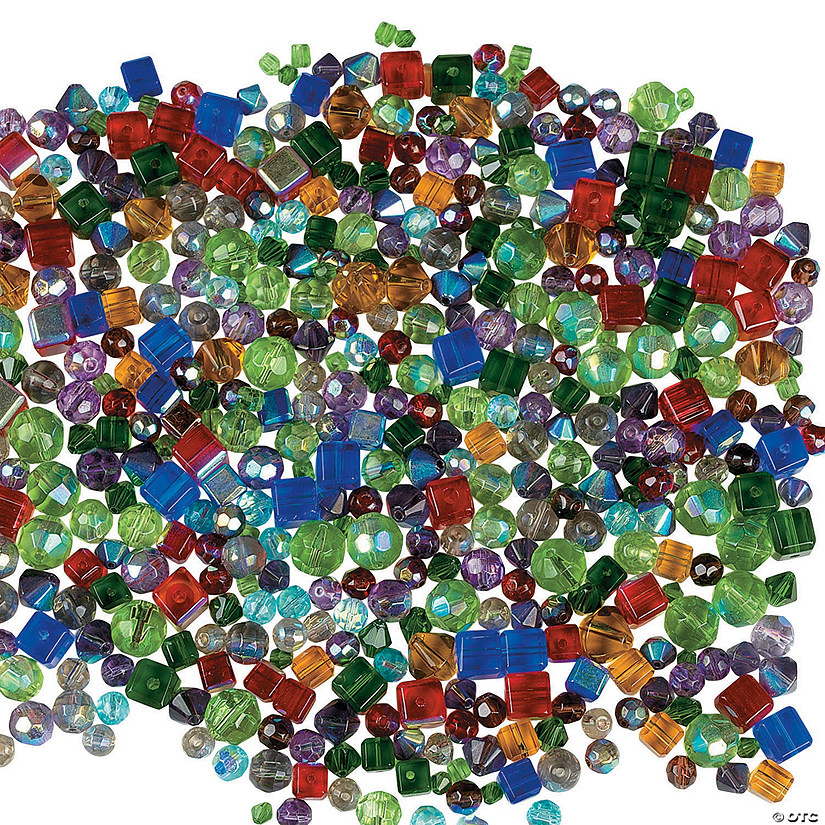 Big Jeweltone Cut Glass Crystal Bead Assortment - 4mm-10mm