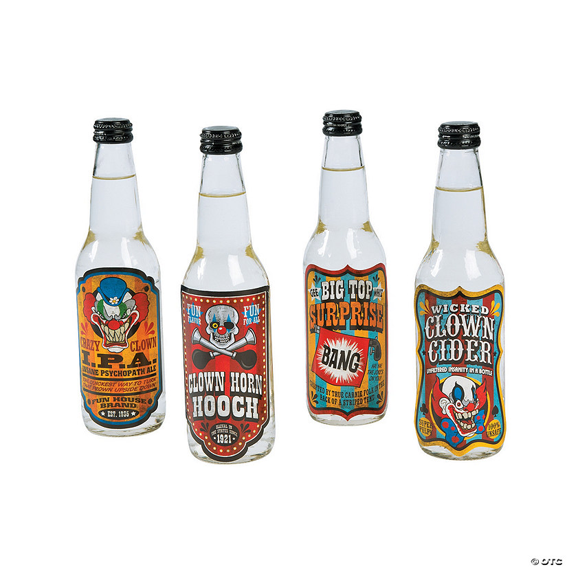 Big Top Terror Bottles Labels