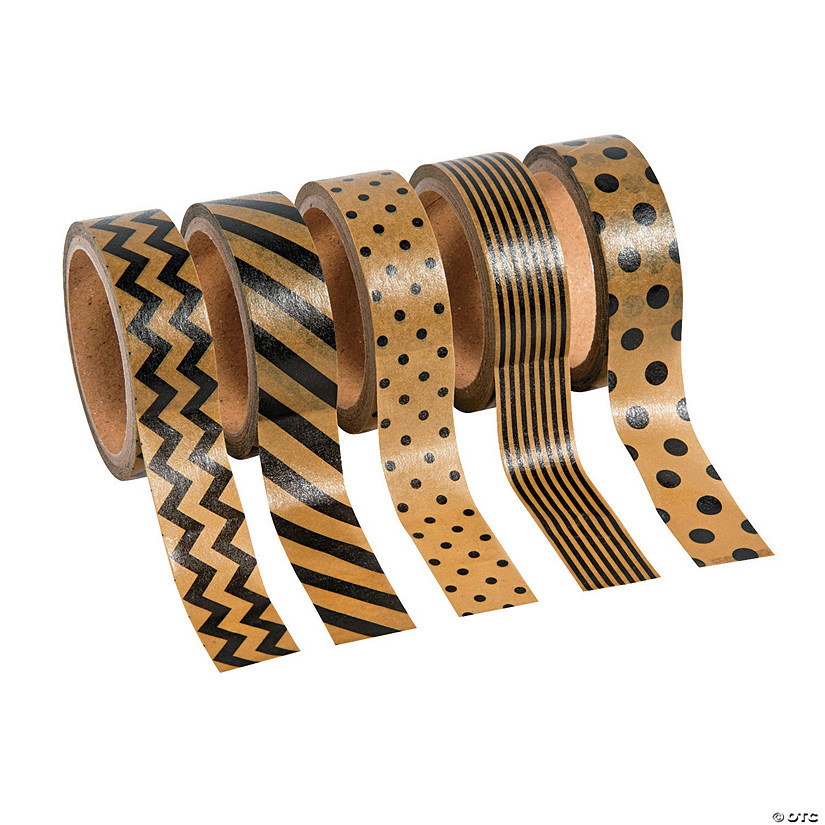 Black & Brown Paper Washi tape