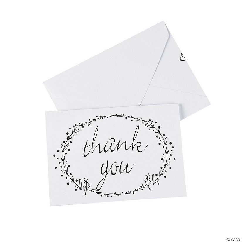 Black & White Thank You Cards