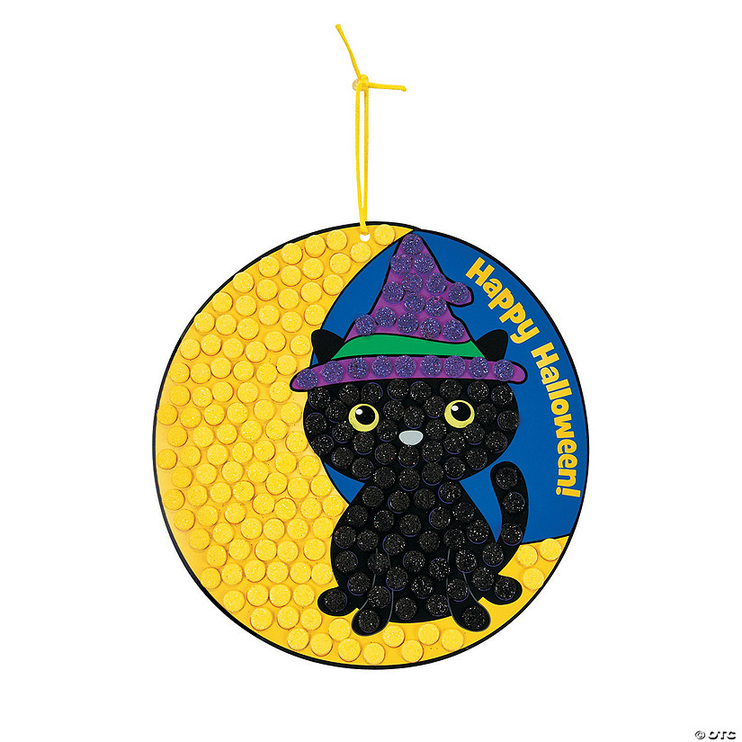 Black Cat Glitter Mosaic Sign Craft Kit