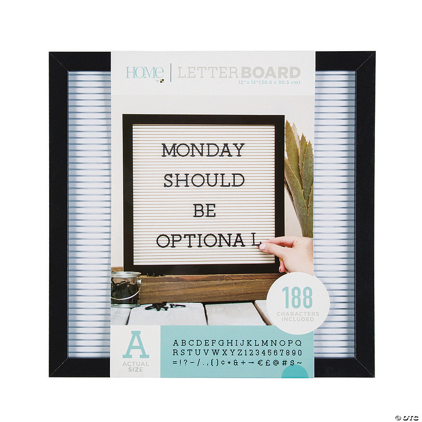 Black Letter Board Kit - 12""
