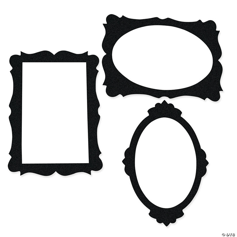 Black Picture Frame Cutouts