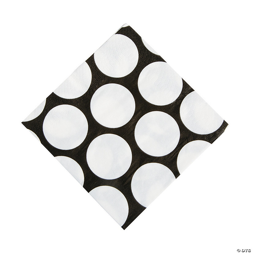 Black Polka Dot Luncheon Napkins