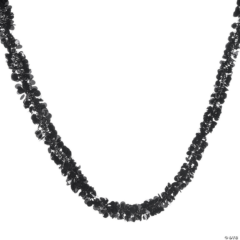 Black Tinsel Garland