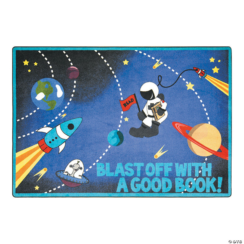 Blast Off With A Good Book® Classroom Rug