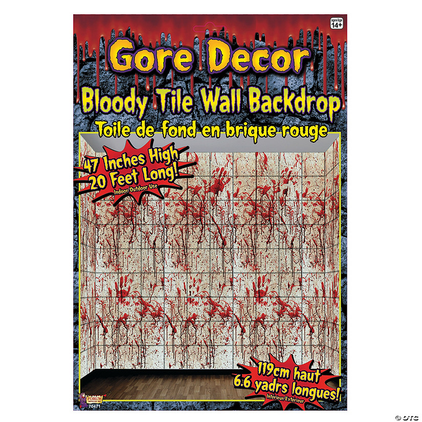 Bloody Tile Wall Roll Halloween Décor