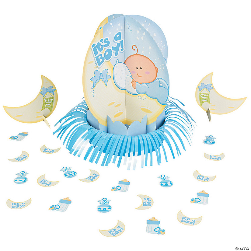 Blue Baby Shower Table Decorating Kit