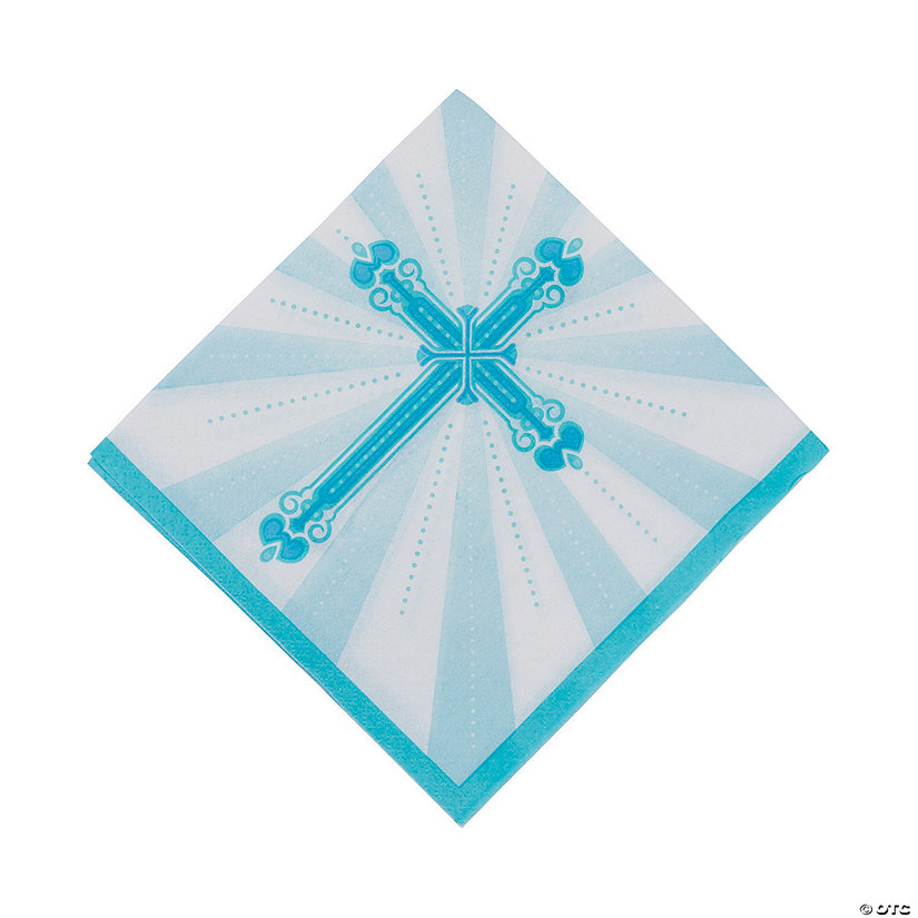 Blue Blessings Luncheon Napkins