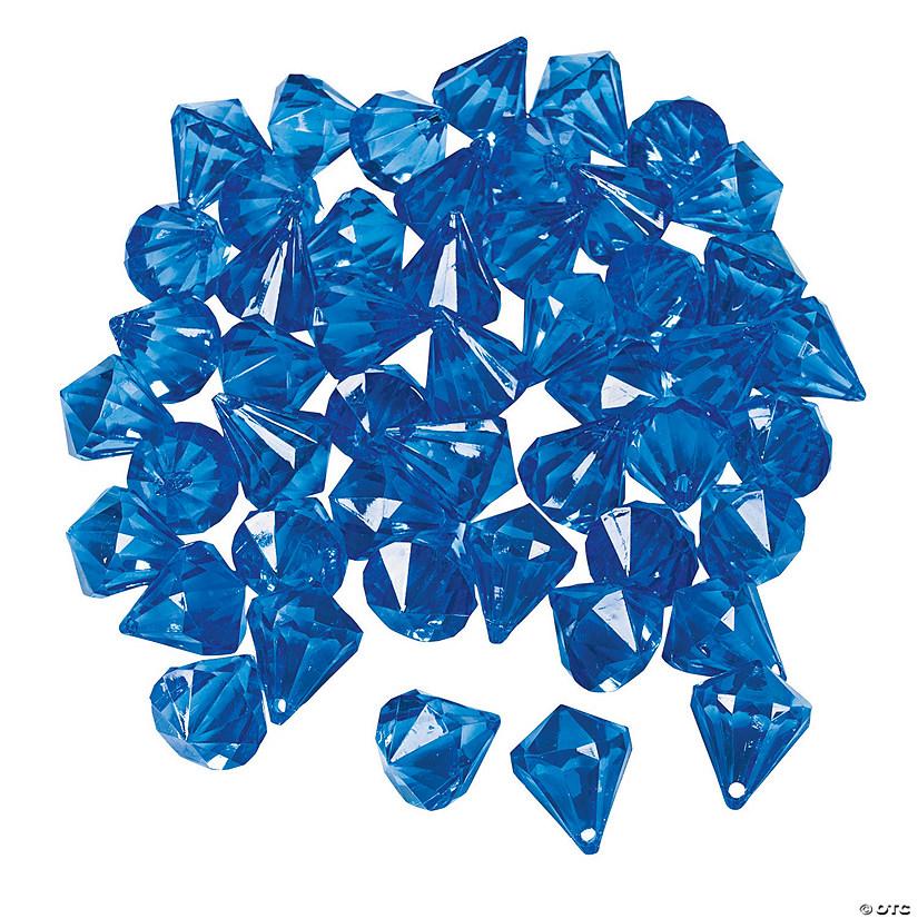 Blue Diamond Shaped Acrylic Gems