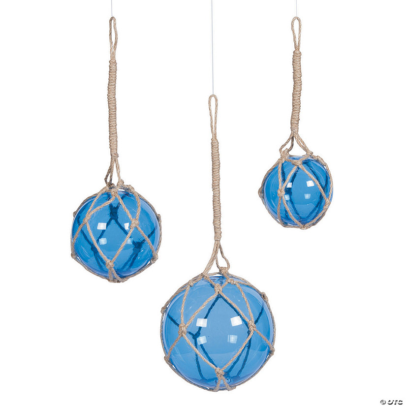 Blue Glass Spheres with Rope