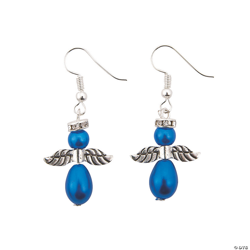 Blue Pearl Angel Earrings Craft Kit