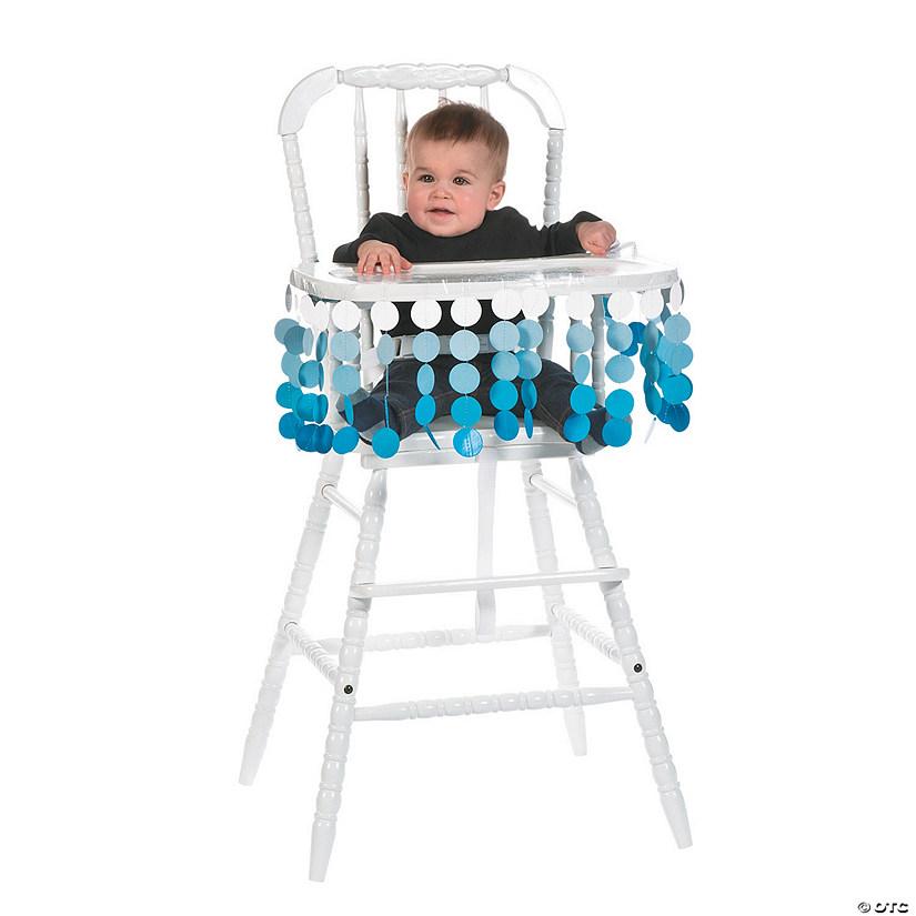 Blue Polka Dot High Chair Décor