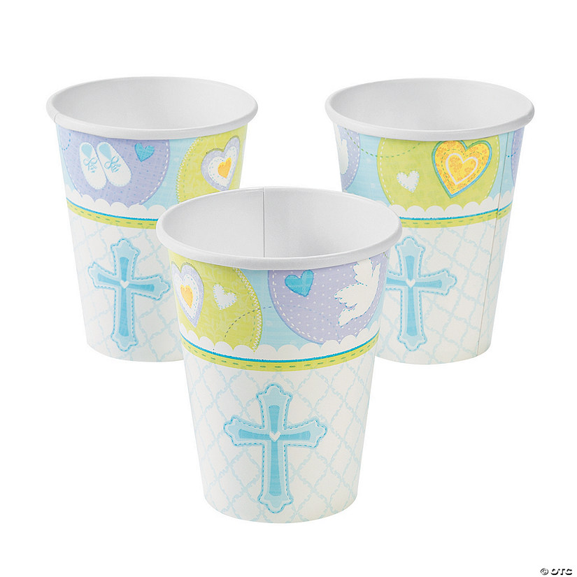 Blue Sweet Christening Paper Cups