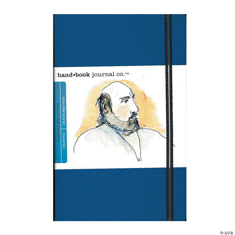 Blue Travelogue Landscape Drawing Journal