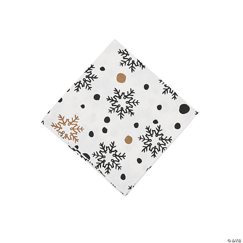 Bold Christmas Beverage Napkins