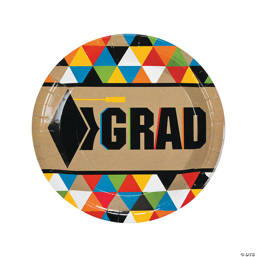 Bold Graduation Party Paper Dinner Plates