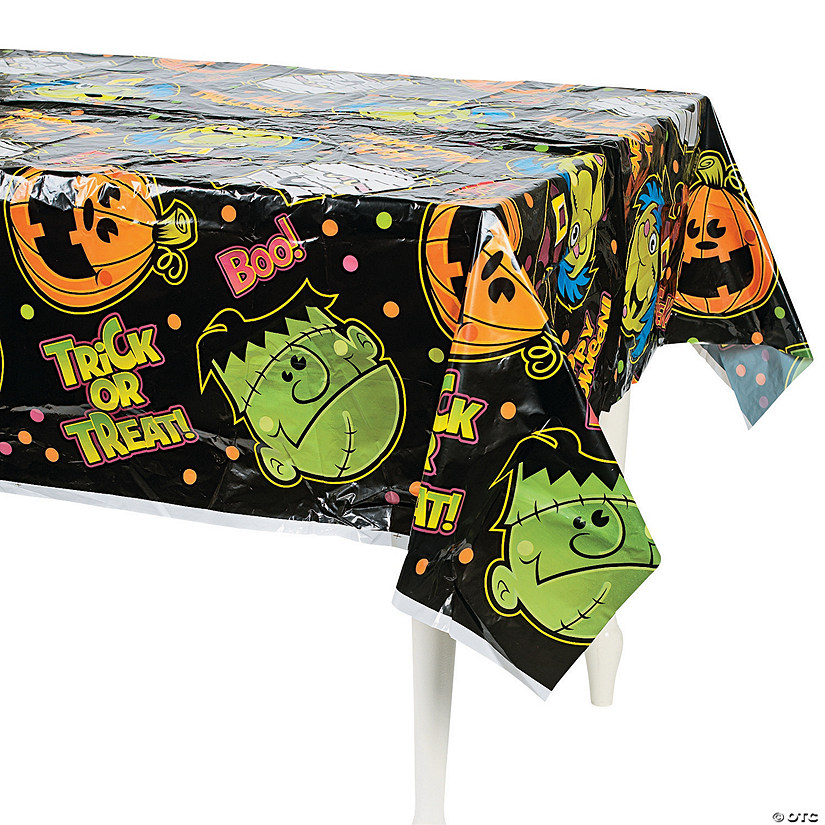 Boo Bunch Halloween Plastic Tablecloth