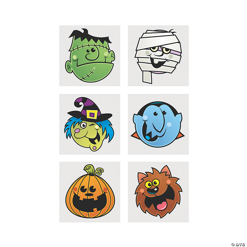 Boo Bunch Halloween Tattoos