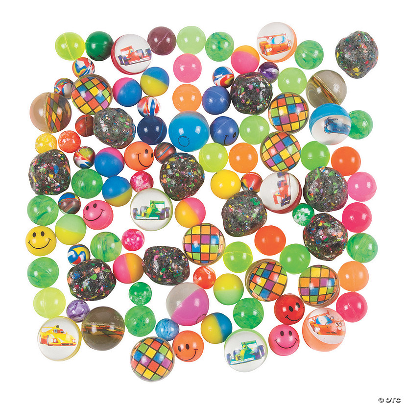 Bouncy Ball Assortment - 100 pcs.
