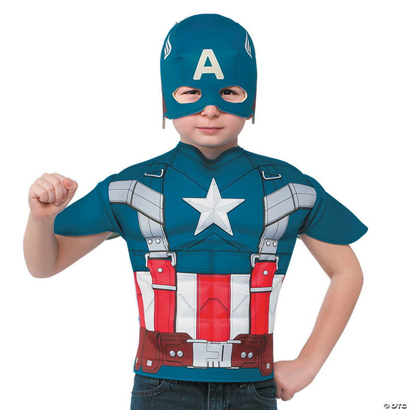 Boy's Captain America™ T-Shirt & Mask Costume - Small