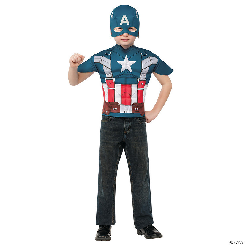 Boy's Captain America™ T-Shirt Costume