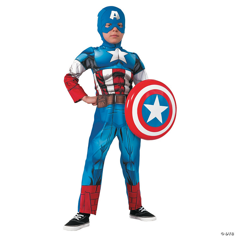 Boy's Muscle Chest Captain America™ Costume