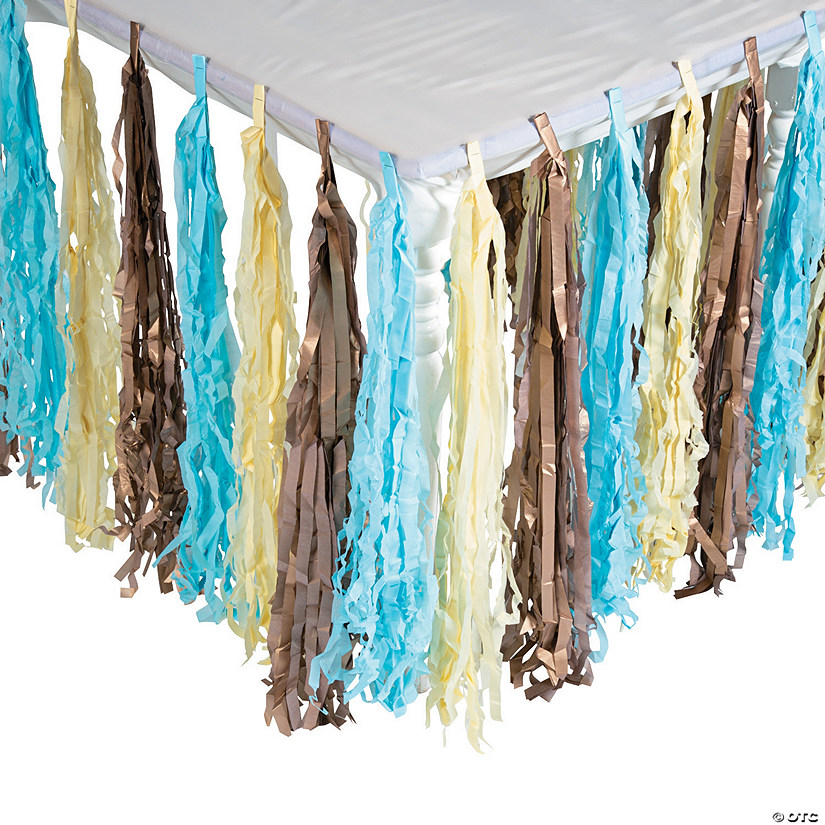 Boys' Birthday Party Fringe Table Skirt