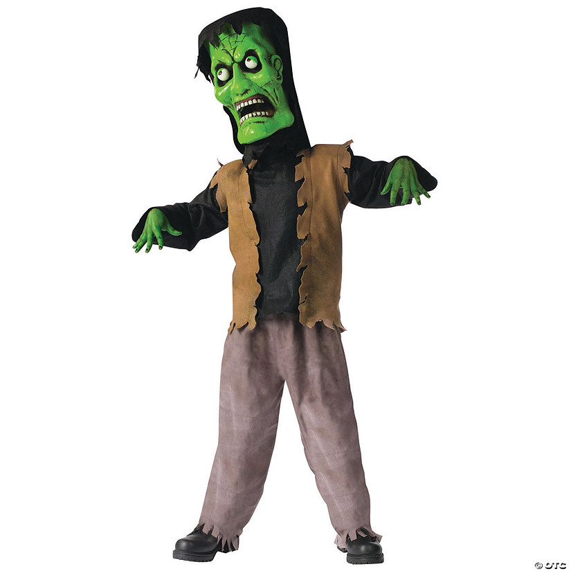 Boy's Bobble Head Green Monster Costume
