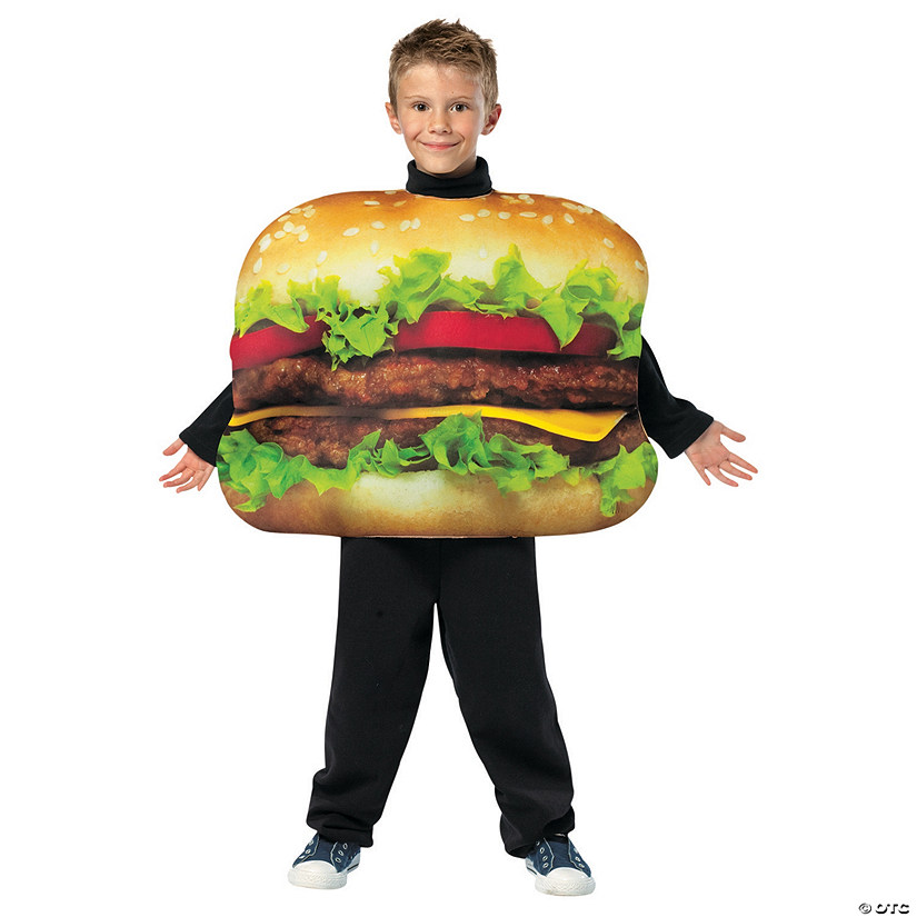 Boy's Cheeseburger Costume - Medium