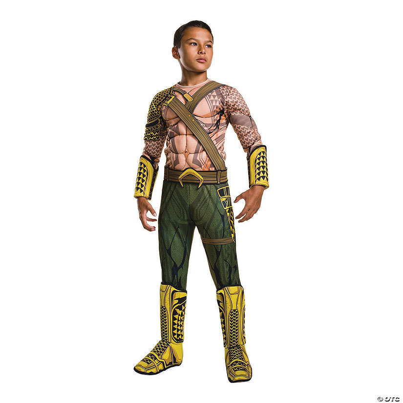 Boy's Deluxe Batman v Superman: Dawn of Justice™ Muscle Chest Aquaman Costume