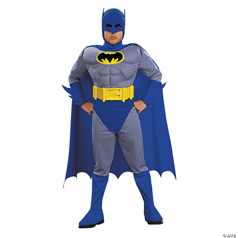 Boy's Deluxe Muscle Chest Batman Costume