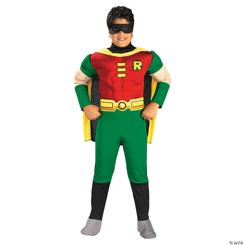 Boy's Deluxe Muscle Chest Robin Costume - Medium