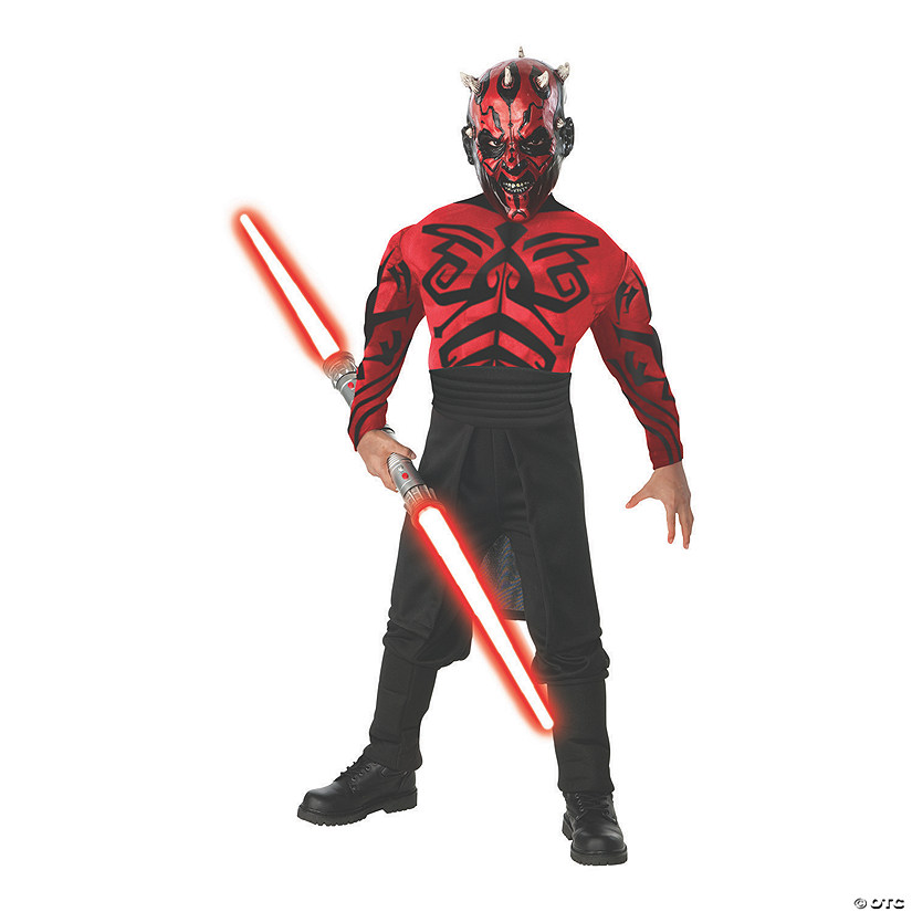 Boy's Deluxe Muscle Chest Star Wars Darth Maul Costume
