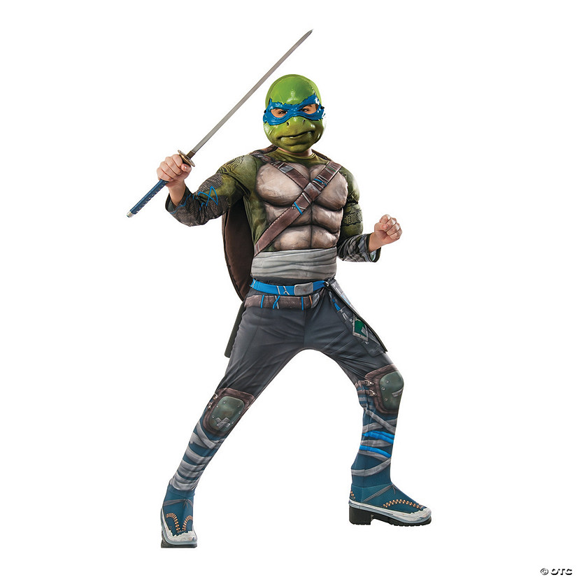 Boy's Deluxe Teenage Mutant Ninja Turtles 2 Leonardo Costume